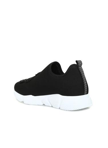 Divarese 5024464 Kelebek İşlemeli Kadın Sneaker Siyah
